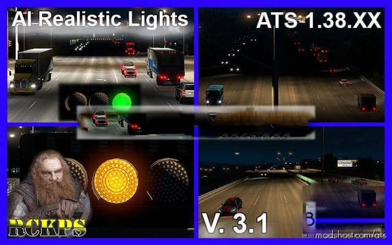 AI Realistic Lights V3.1 [1.38.X] for American Truck Simulator