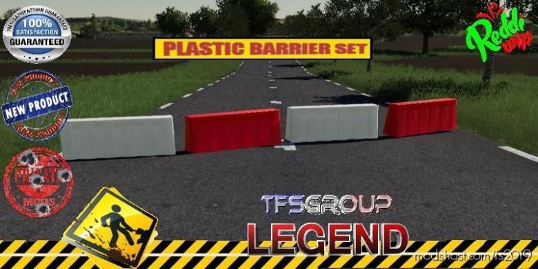 Plastic Barriere SET V1.5 for Farming Simulator 19