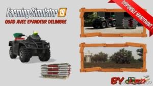 Quad With Delimbre Spreader for Farming Simulator 19