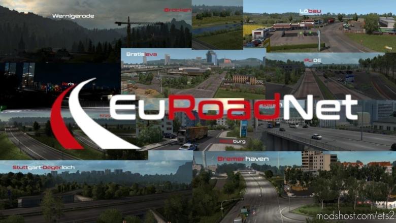 Map Euroadnet [1.38] for Euro Truck Simulator 2