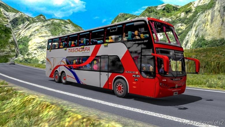 Busscar Scania Panoramico DD 6×2 V4 BUS Mod [1.38] for Euro Truck Simulator 2