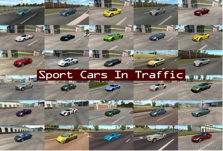 Sport Cars Traffic Pack By Trafficmaniac V6.8 for Euro Truck Simulator 2