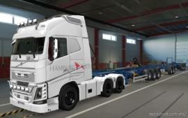 Skin Volvo FH16 2012 Hamburg SUD White [1.37] for Euro Truck Simulator 2