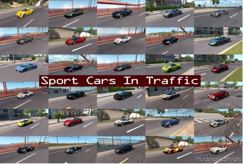 Sport Cars Traffic Pack (ATS) By Trafficmaniac V6.8 for American Truck Simulator