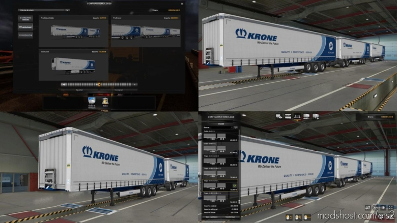 Krone Doble & Triple Mp-Sp [1.37] for Euro Truck Simulator 2