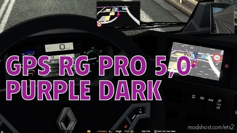 GPS RG PRO Purple Dark V5.0 for Euro Truck Simulator 2
