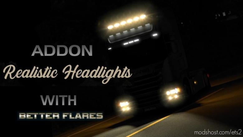 Addon Realistic Healistic Headlights [1.38] for Euro Truck Simulator 2