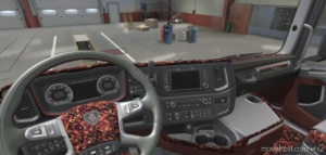 Scania Nextgen Beige & RED Pluche Interior [1.38.X] for Euro Truck Simulator 2