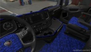 Scania Nextgen S & R Blue Pluche Interior for Euro Truck Simulator 2