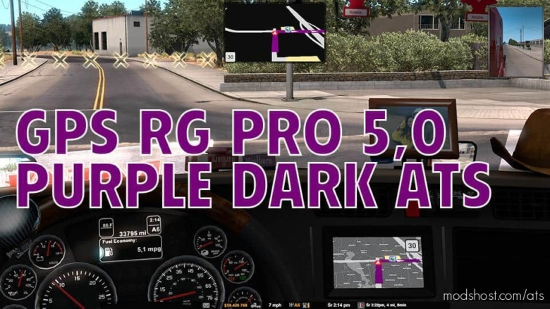 GPS RG PRO Purple Dark V5.0 for American Truck Simulator