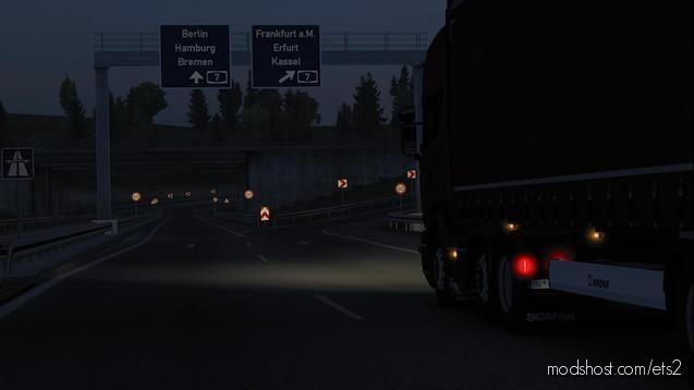 Realistic Headlights V2.2 for Euro Truck Simulator 2
