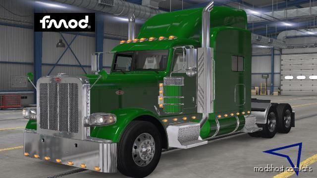 Kenworth T680 Stock Sounds For Peterbilt 389 for American Truck Simulator