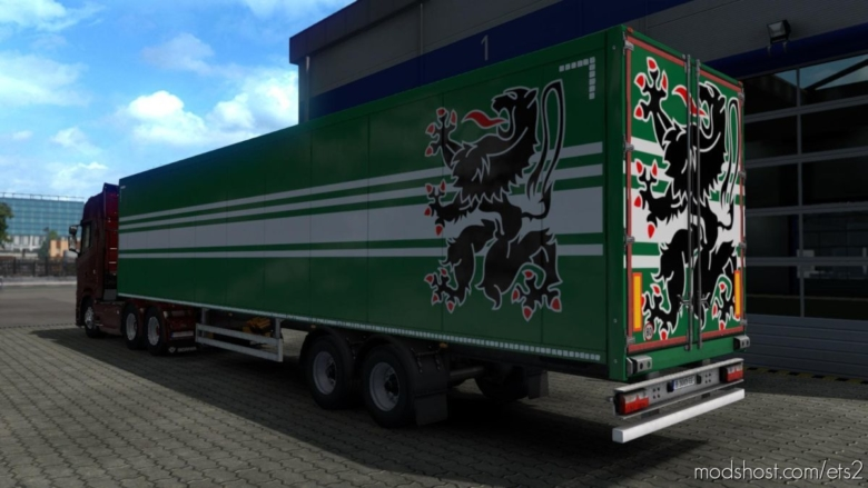 Belgian Province Flags Trailer Paint JOB Pack V0.1 for Euro Truck Simulator 2