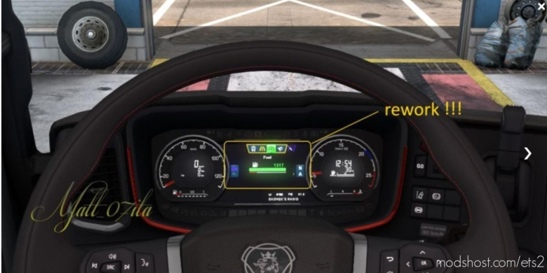 Dashboard FOT Scania NG [1.38] for Euro Truck Simulator 2