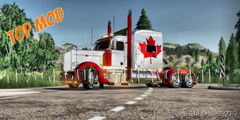 Peterbilt 388 Canada V2.0 for Farming Simulator 19