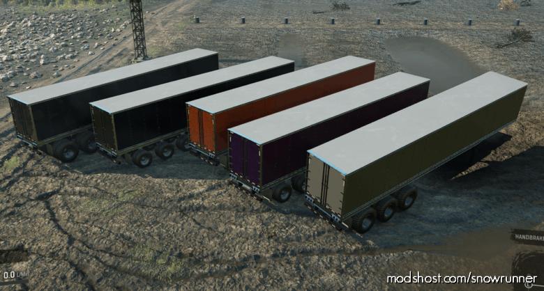 Ix-Tra Heavy Duty 7-Slot High-Saddle Trailer V2.0 for SnowRunner