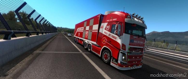Vigili DEL Fuoco Skin Pack Trucks & Trailers for Euro Truck Simulator 2