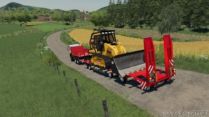 Fliegl Lowbody With Extensions for Farming Simulator 19