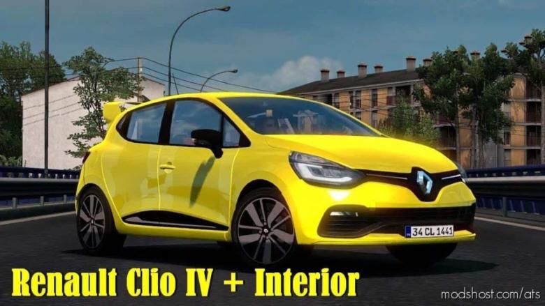 Renault Clio IV + Interior V1.3 for American Truck Simulator