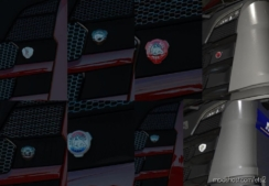 Scania RS Nextgen Front Badges [1.38.X] for Euro Truck Simulator 2