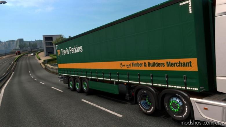 Travis Perkins Trailer Skin for Euro Truck Simulator 2