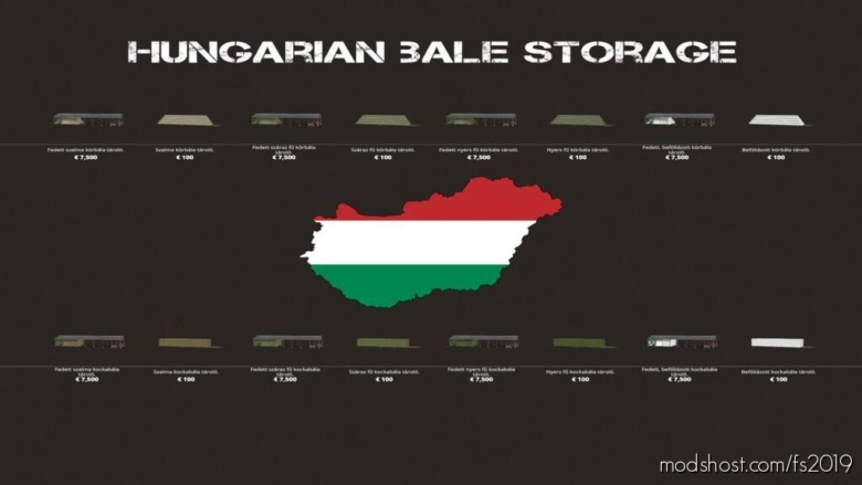 Hungarian Bale Storage Pack for Farming Simulator 19