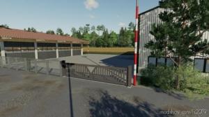 Large Sliding Gate for Farming Simulator 19