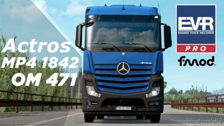 Mercedes-Benz 1842 Sound [1.38] for Euro Truck Simulator 2