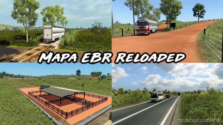 Mapa EBR 1.73 Reloaded [1.38] for Euro Truck Simulator 2