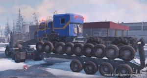 Semitrailer M747 With Sidewalls for SnowRunner