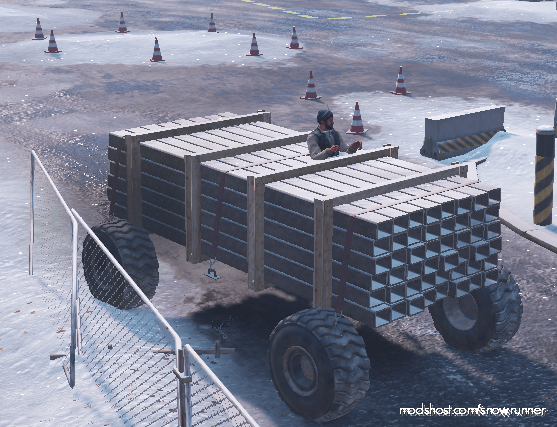 Metal Beams Truck for SnowRunner
