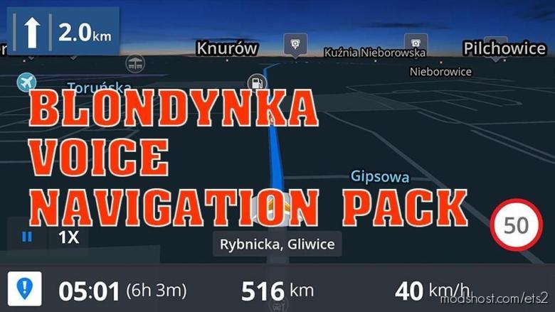 Blondynka Voice Navigation Pack for Euro Truck Simulator 2