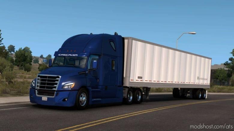 The Fruehauf BOX Trailer Ownable [1.38] for American Truck Simulator