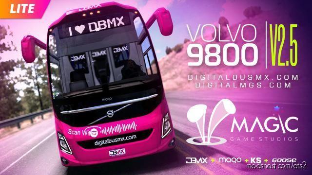 Volvo 9800 V2.5 for Euro Truck Simulator 2
