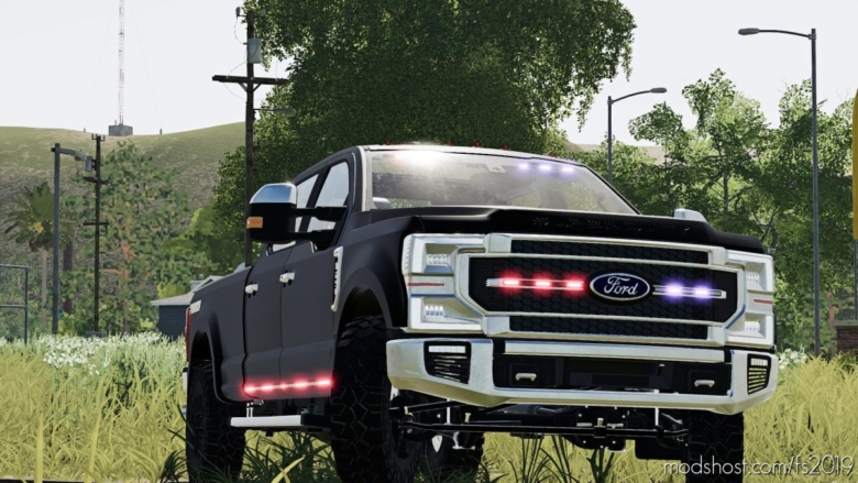 2020 Ford Ghost Police Truck V1.2.2.0 for Farming Simulator 19