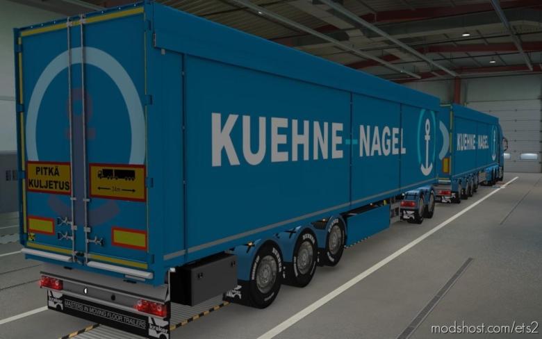 Skin Kraker WalkingFloor Kuehne + Nagel [1.38] for Euro Truck Simulator 2