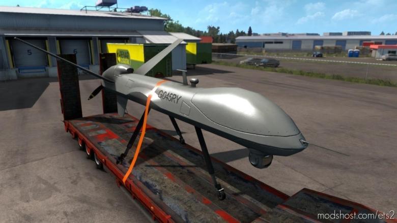 MQ-9 Reaper Cargo 4K [1.38] for Euro Truck Simulator 2