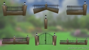 Brick Fences Pack for Farming Simulator 19
