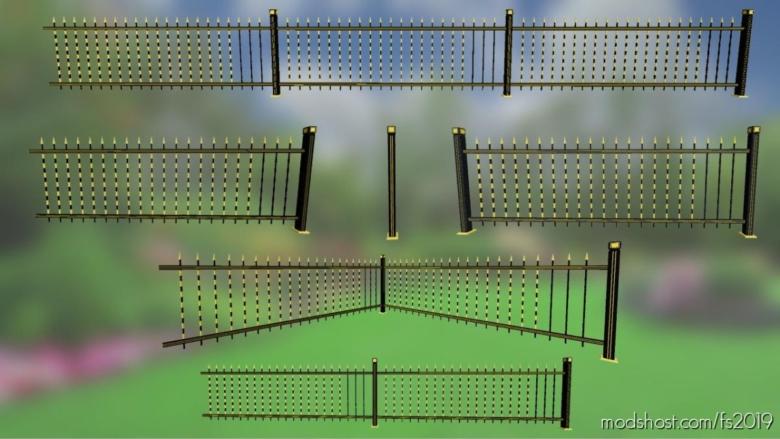 Golden Fences Pack for Farming Simulator 19