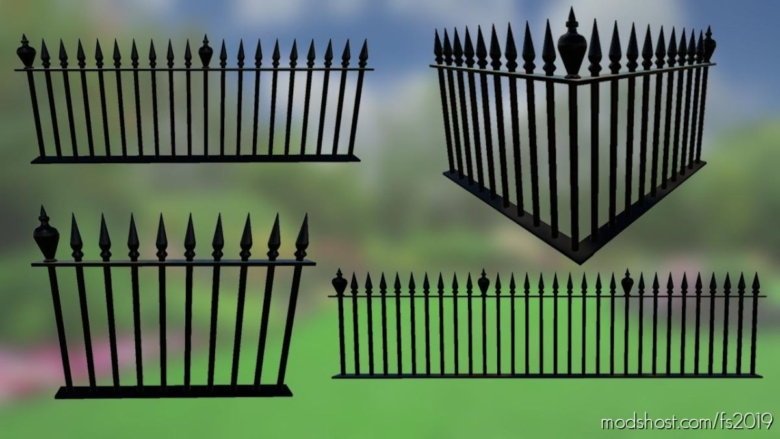 Metal Fences Pack for Farming Simulator 19