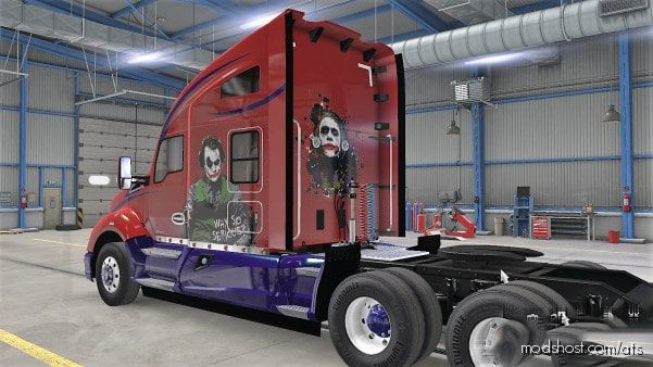 Kenworth T680 Repaintable Joker Metallic Skin [1.38] for American Truck Simulator