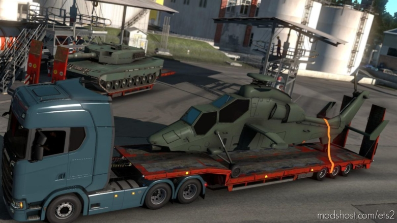 Eurocopter Tiger Cargo 4K for Euro Truck Simulator 2