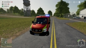 Fire Brigade Ellerbach Sprinter V1.2 for Farming Simulator 19