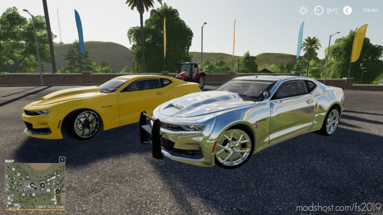 Chevy Camaro Police for Farming Simulator 19