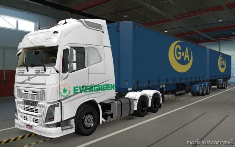 Skin Volvo FH16 2012 Evergreen White [1.38] for Euro Truck Simulator 2
