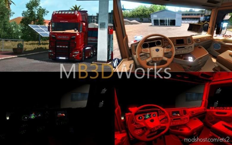 Scania S520 V8 Siyah Holland [1.38.X] for Euro Truck Simulator 2
