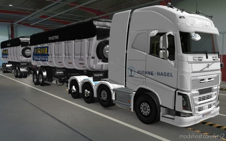 Skin Volvo FH16 2012 8X4 Kuehne + Nagel White [1.38] for Euro Truck Simulator 2