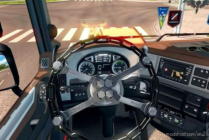 Chain Steering Wheel [1.38] for Euro Truck Simulator 2