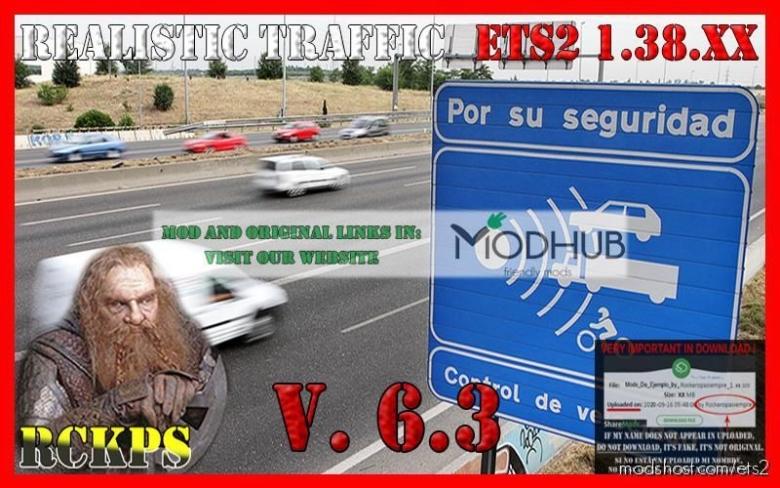 Realistic Traffic V6.3 [1.38.X] for Euro Truck Simulator 2