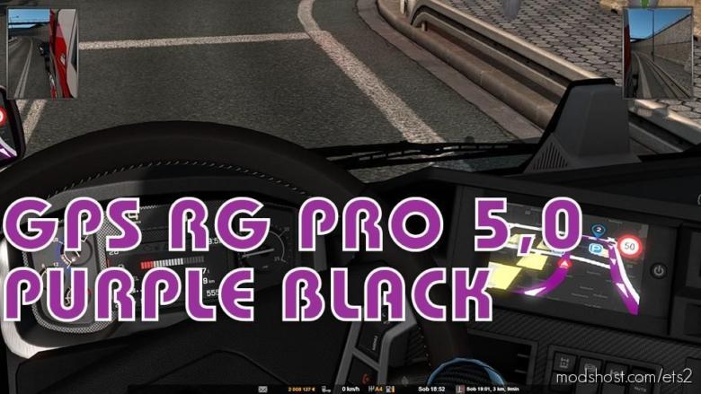 GPS RG PRO 5.0 Purple Black for Euro Truck Simulator 2
